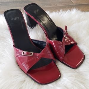 B2G1 VTG Coach Red Patent Leather Square Toe Heels